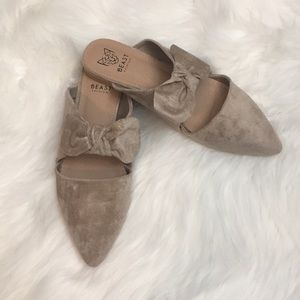 Shoes - 🆕The Maizy Ribbon Mule-Taupe